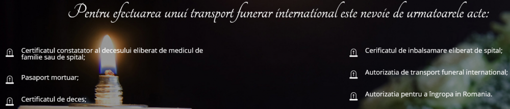 acte transport funerar international